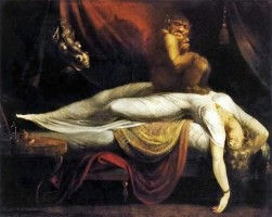 Johann Heinrich Füssli (1741–1825), Der Nachtmahr, 1781, Detroit Institute of Arts