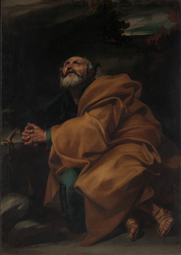 "Jusepe de Ribera (1591–1652); ""Der reuige Petrus"", um 1612/13; Öl auf Leinwand, 161,9 x 114,3 cm; Metropolitan Museum of Art, New York. Purchase; gift of Mrs. William M. Haupt, from the collection of Mrs. James B. Haggin, by exchange, and 2011 Benefit Fund, 2012"